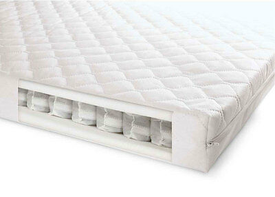 Breathable Pocket Sprung Cotbed / Cot Bed Mattress 140 X 70 X 10 Fast Delivery