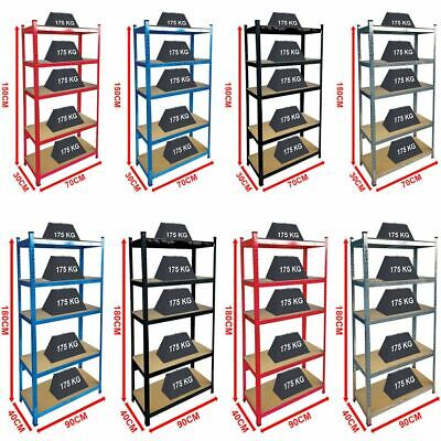 5 Tier Garage Shelves Shelving Unit Racking Boltless Heavy Duty Storage Shelf