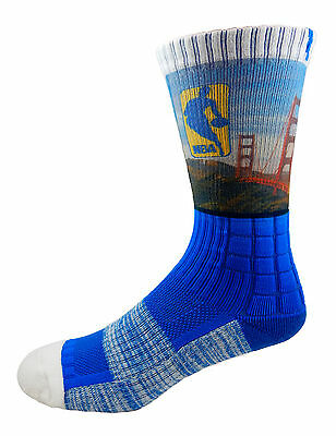 Golden State Warriors Golden Gate Bridge NBA Socks Men s Large Medium Curry  KD 123a79f3f