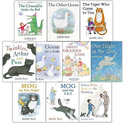 The Tiger Who Came To Tea Collection 10 Books Set Pack in a Bag By Judith Kerr