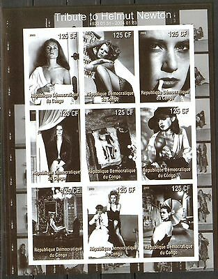 Congo 2003 Cinema Tribute to Helmut Newton Sheet imperf. MNH** Privat !