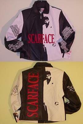 SIZE XL TONY MONTANA SCARFACE women cut LEATHER JACKET XL