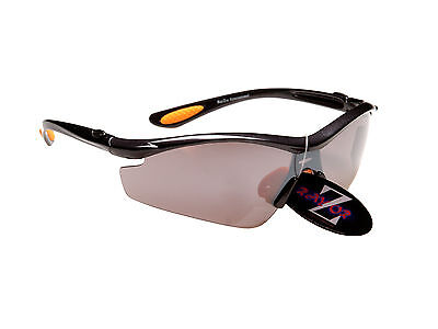 RayZor 612 Uv400 Grey Framed Smoked Mirrored Lens Archery Wrap Sunglasses RRP£49