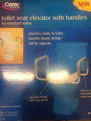 Carex Toilet Seat Elevator With Handles For Standard Toilets B317-00
