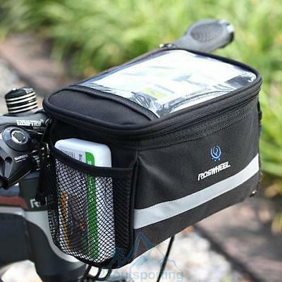 ROSWHEEL Bike Bicycle Cycling Front Basket Pannier Frame Handlebar Bag Pouch New
