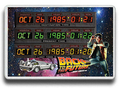 Time Circuits Back to the Future,FRIDGE MAGNET!Flux Capacitor, have ur own dates