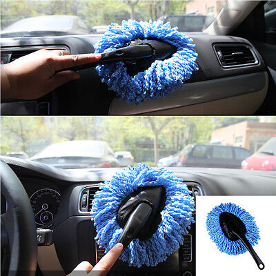 Car Wash Cleaning Brush Microfiber Home Cleaning Dusting Tool Dust Remover Blue