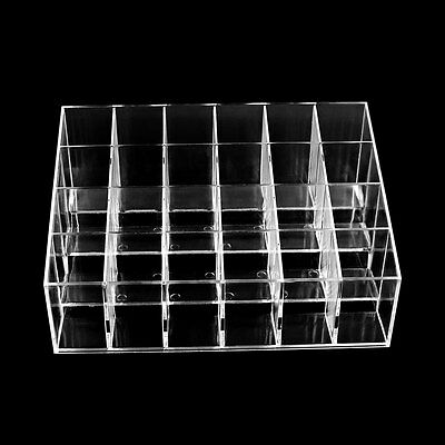 New Professional Clear Acrylic 24 Lipstick Holder Cosmetic Organizer Makeup Case
