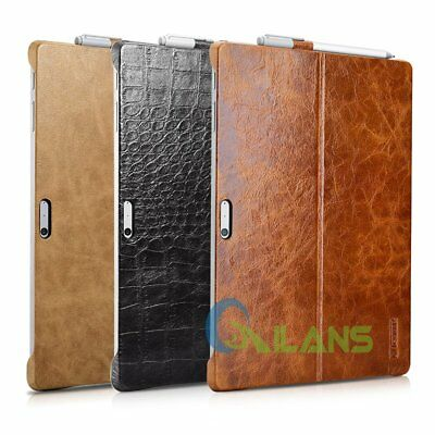 New Icarer Microsoft Surface Pro4 Genuine Leather Slim Stand Case Cover【AU Ship】