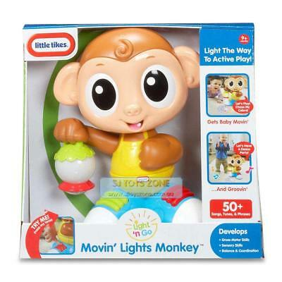 Little Tikes Light n Go Movin Monkey Lights & Sounds 50+ Songs Prases Baby Toy