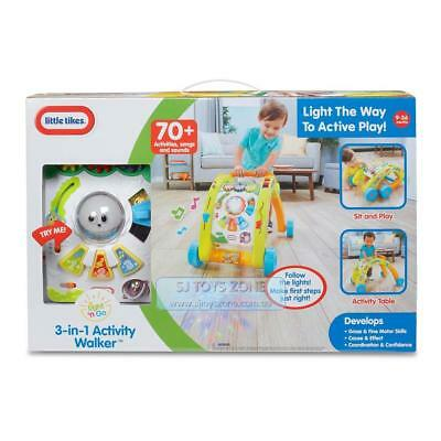 Little Tikes Light n Go 3-in-1 Baby Toddler Activity Walker 70+ Activities Songs