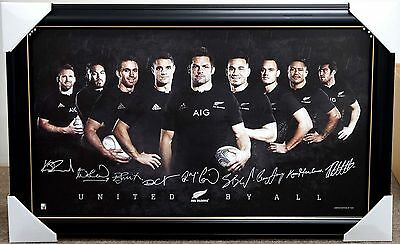 All Blacks Rugby 2015 World Cup Signed Limited Edition Print Framed New Zealand