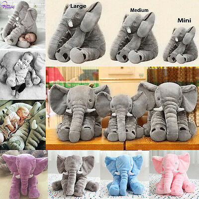 60CM Cute Plush Toy Long Nose Elephant Pillows PP Cotton Stuffed Baby Soft Doll