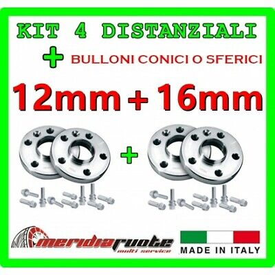 KIT 4 DISTANZIALI PER BMW X6 XDRIVE (E71 E72) 2008+ PROMEX ITALY 12 mm + 16 mm