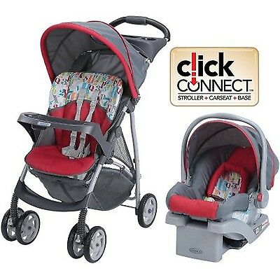 Graco LiteRider Click Connect Travel System with SnugRide Click Connect 22 In...