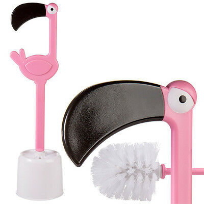 Flamingo Toilet Brush Novelty Pink Bathroom Cleaner Gift Wc Loo Funny Plastic