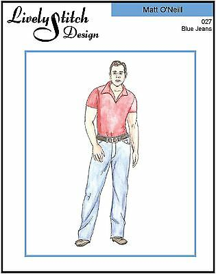 Blue Jeans / sewing pattern for the Matt O'Neill doll by Tonner