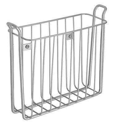 InterDesign Classico Wall Mount Newspaper and Magazine Holder Rack for Bathroom,