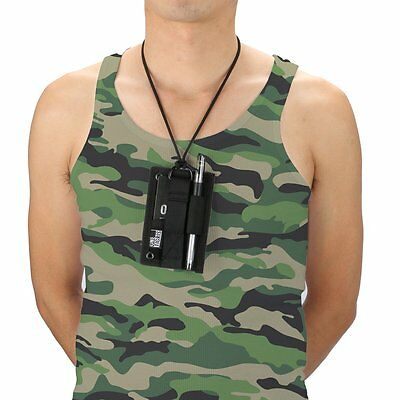 OneTigris Tactical ID Card Holder Vertical Badge Holder Horizontal with Pen Hold