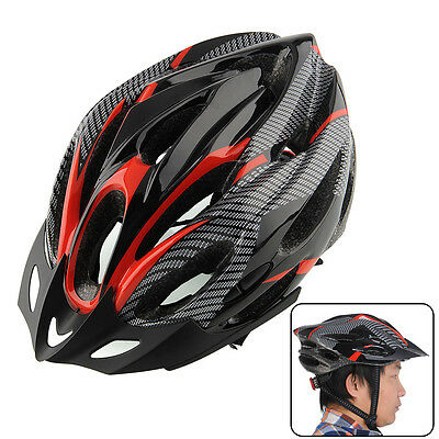 Cycling Bicycle Bike Helmets Honeycomb Adult Road Red carbon Visor Helmet