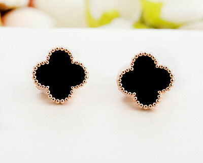 Classic 11MM Four Leaf Clover 925 Sterling Silver Ear Stud / Clip on Earrings
