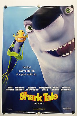 "SHARK TALE - Robert De Niro - Original Movie Poster ""A"" - 2004  Rolled DS C8"