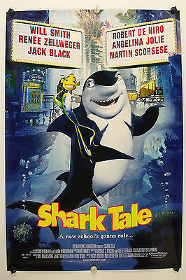 "SHARK TALE - Will Smith - Original Movie Poster ""B"" - 2004  Rolled DS C9/C10"