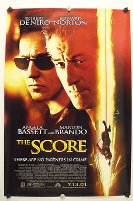 The SCORE - Robert De Niro - Original Movie Poster - 2001 Rolled DS C9