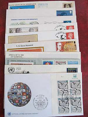 Fdc - Excellent Group Of10 Covers -  Differente Emission Countries (17)
