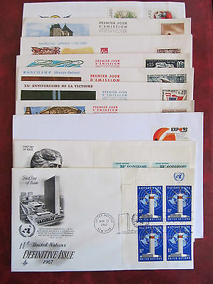 Fdc - Excellent Group Of10 Covers -  Differente Emission Countries (9)