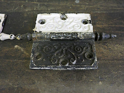 "Antique Steeple Top Victorian Ornate Door Hinge 3.5"" X 4"""