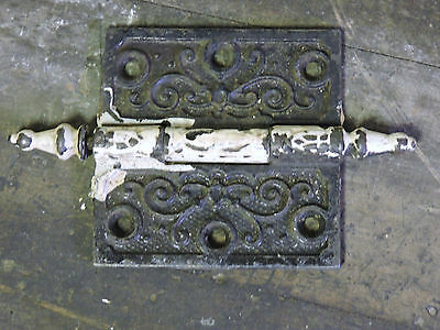 "Antique Steeple Top Victorian Ornate Door Hinge 3.5"" X 3.5"""