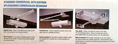 TELL MANUFACTURING, INC. Commercial Grade 3 Door Closer, Size 3 DC100001