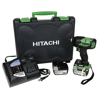 Hitachi WH14DBL 14.4V Lithium Ion Brushless Impact Driver (3.0Ah) Kit   NEW