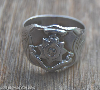 1908 Worcestershire Regiment Military Solid Sterling Silver Ring