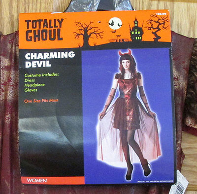 Charming Devil Women Halloween Costume Adult Totally Ghoul One Size Fits