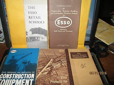 Five (5) Esso Instruction Booklets  From the Late 50's and Early 60's