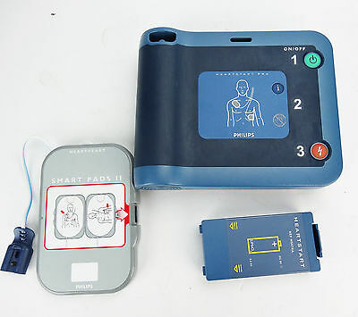 Philips HeartStart FRx Defibrillator AED w/ Battery and Pads