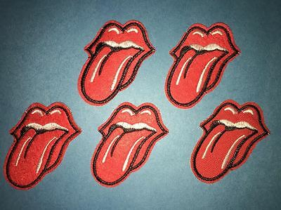 5 Lot The Rolling Stones Rock Band Heavy Metal Jacket Hoodie Vest Hat Patches A
