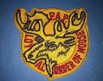 Vintage 1970's P A P Loyal Order Of Moose Lodge Sew On Jacket Patches Crests A