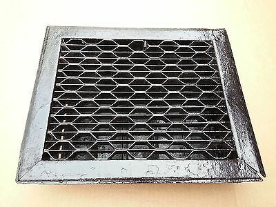 "Vintage Tin Floor Grille Heat Grate Register 10"" long x 8"" wide with Louvers"