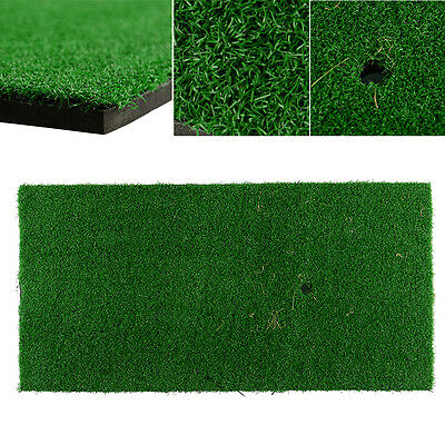 "New Backyard Golf Mat 12""x24"" Hitting Pad Practice Rubber Tee Holder Indoor"