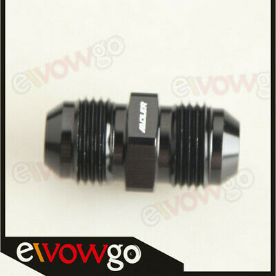 -8AN 8AN To AN8 AN-8 Straight Male Union Fitting Adapter Aluminum Black