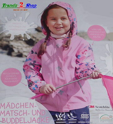 Girl Rain Jacket Mud Digging Weather Game W NEW