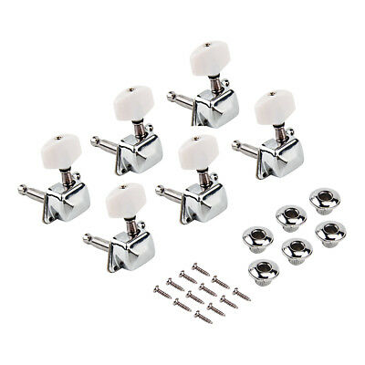 Guitar Tuning Pegs Keys Tuners Machine Heads for Electric Parts Chrome 6L Inline