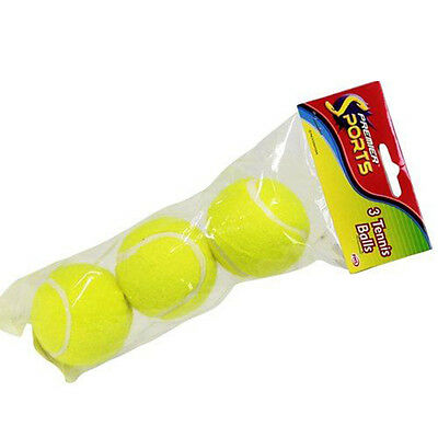 3 PC Sport Tennis Balls  (Also Dog Toys) NEW Dog Activity Game Tournament