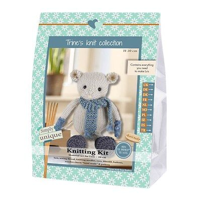 NEW | Go Handmade Knitting Kit | Lukas & Friends Mouse Luis | FREE SHIPPING