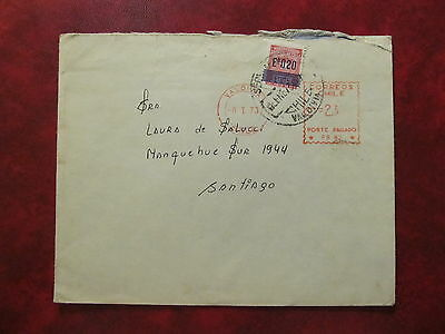 1973 - Chile - Old Cover - From Valdivia To Santiago De Chile