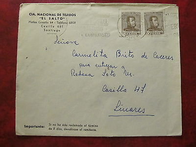 1960 - Chile - Old Cover - From Santiago To Linares
