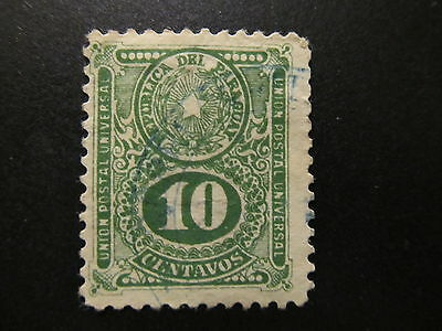 1910/21 - Paraguay - Coat Of Arms Above Numeral Of Value - Scott 195 A38 10C